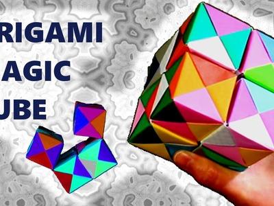 Origami moving magic cube - action origami presentation - JAPANIA