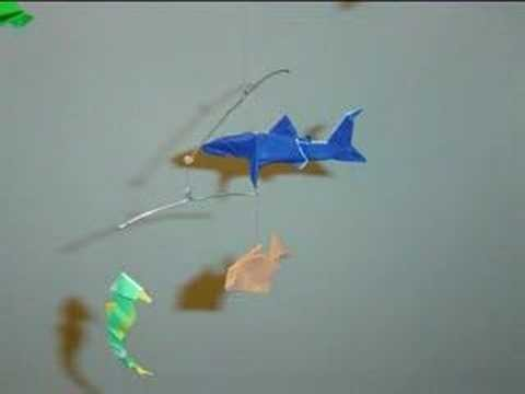 origami under the sea fish mobile my crafts and diy projects