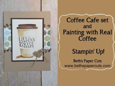 Paint with Coffee and the Coffe Cafe set ~ Beth's Paper Cuts