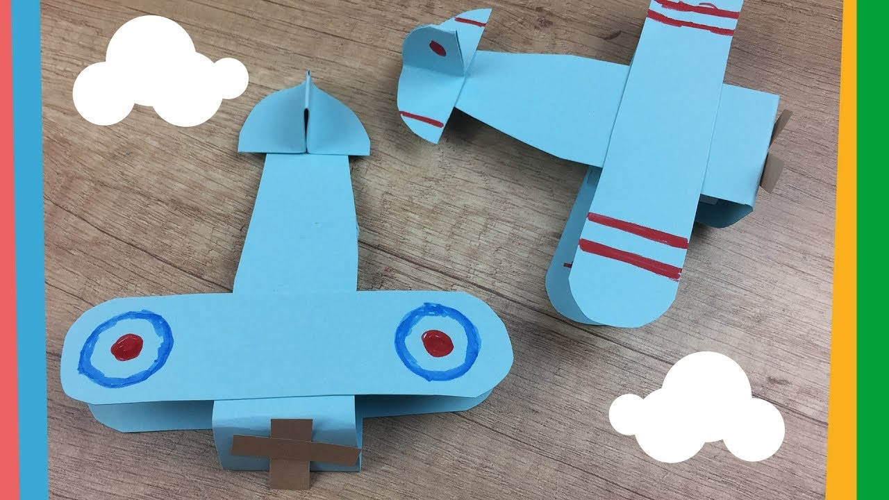Paper airplane craft easy diy project for kids customize for Airplane crafts for toddlers