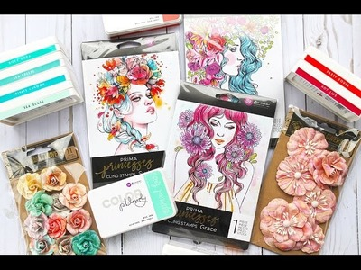 Princess Cards featuring the Color Philosophy Inks with Cari on Live with Prima