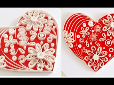 Quilling Heart For  Valentine's Day Gift Ideas Video 3