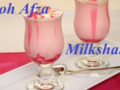 Rooh Afza milkshake Recipe in 5 min. (HINDI)
