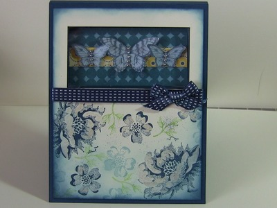 Shadow Box Butterfly Card