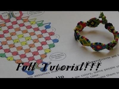 """Shaped Circle"" Friendship Bracelet Tutorial! Start to Finish!"