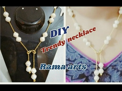 Simple and trendy necklace - Making of necklace | easy to make | jewellery tutorials