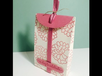 So In Love Gift Bag with Stitched Shapes Framelits - Perfect for Wedding Favours, Video Tutorial.