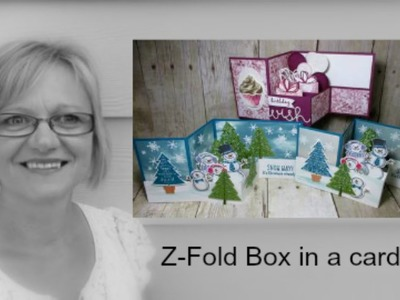 Stampin'Up! Z-Fold Box in a card
