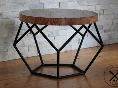 Steel Framed Industrial Pentagon Table