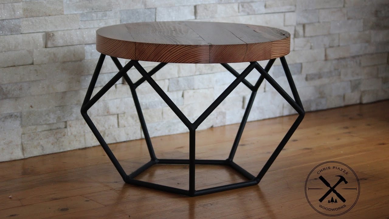 Steel Framed Industrial : Steel framed industrial pentagon table my crafts and diy