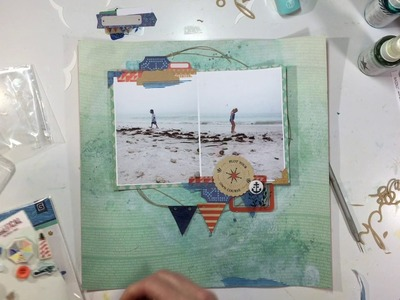 """Summer Scrappin' Day 6- Scrapbooking Process Video #100- """"Beach Combers"""""""