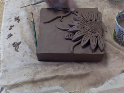 Time Lapse: Ceramic Flower Relief Tiles