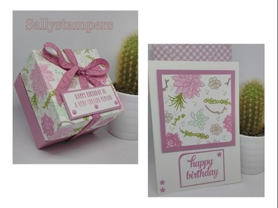 Tinned Candle Box, Card and Envelope with Stampin' Up! Succulents.