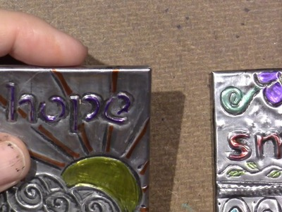 Tutorial; Pewter Tiles for mixed media mosaic