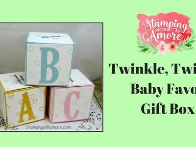 Twinkle, Twinkle Baby Favor Gift Box