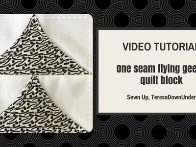 Video tutorial: 2-minute one seam flying geese quilt block