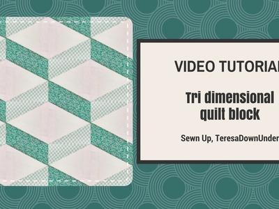 Video tutorial Tridimensional quilt block
