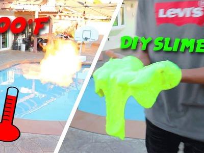 WHAT HAPPENS WHEN YOU BURN SLIME?! (homemade flamethrower vs diy slime)