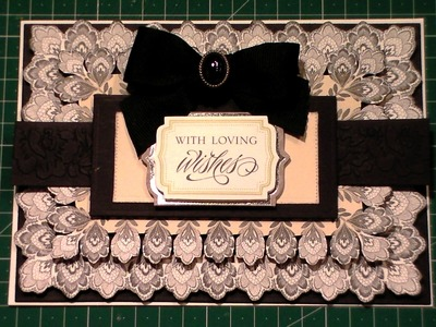 126. Cardmaking Tutorial: Anna Griffin Black & Cream Fancy without Flowers Card