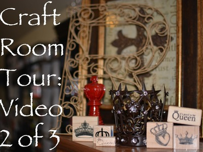 ||2.|| Studio Reign: My Craftroom Tour Video 2 of 3-Supplies and Creation Zone