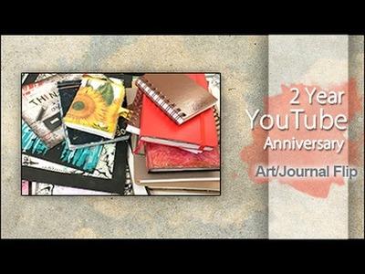 2 Year YouTube Anniversary ~ Art & Journal Flip Through