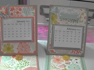 2015 Calendar.Easel Card w.Stampin' Up! Products