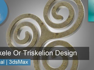 3d Tutorial | Triskele Or Triskelion Spiral Design | 3dsMax