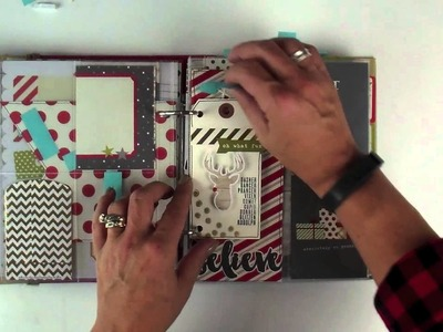 A peek at the insides!  Document Your December Project Kit