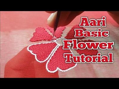 Aari Embroidery basic flower Tutorial