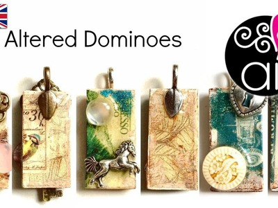 Altered Domino | DIY Tutorial | Decoupage & Resin | Kit Cernit Finish Glass