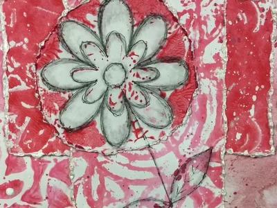 Art Journal Prompts Week 18 - Monochromatic (Mixed Media)