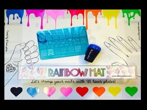 B.loves Plates | Rainbow Mat & Unicorn & Rainbows Plate Review | How To?