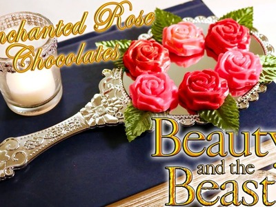 Beauty and the Beast Enchanted Rose Chocolates : How to use Candy Melts and a Chocolate Mold 2 Ways!
