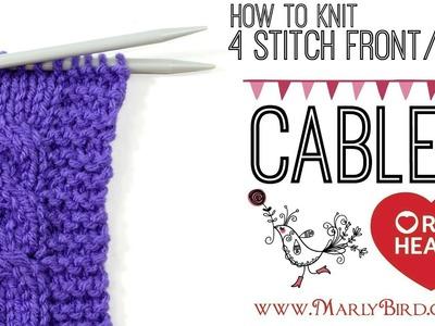 Beginner Basics Knitting: 4 Stitch Left Cable