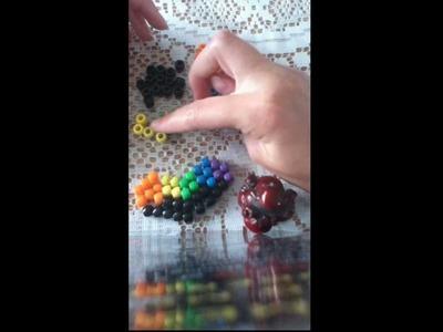Bleeding Melting Rainbow Kandi Heart Tutorial Part 1