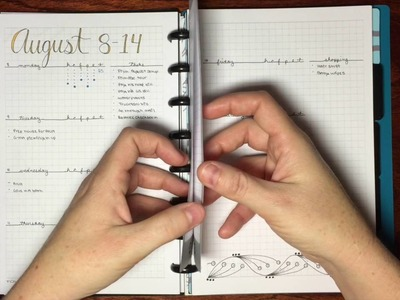 Bullet Journal Setup in a disc bound notebook