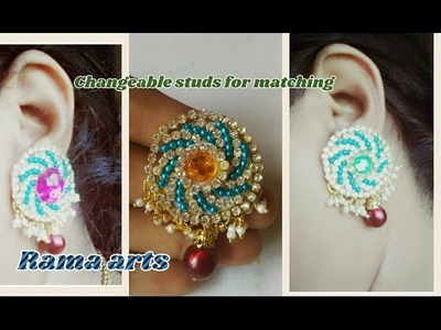 Changeable matching studs - how to make changeable studs | jewellery tutoria