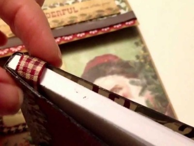 Christmas Cardvelope and Altered Mini Composition Book