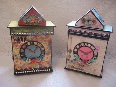 Clock with Scrapbook Mini Album Set (Tutorial available)