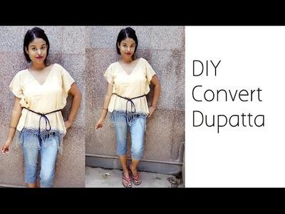 Convert Dupatta Into Loose Fit Top | D.I.Y