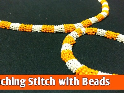 Couching stitch embroidery with Beads by Ek Indian Ghar