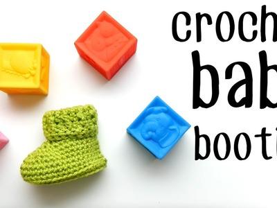 Crochet Parker Baby Booties Left Handed
