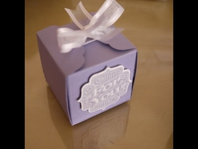 Cube Box with Scalloped Tag Topper wrapper closure