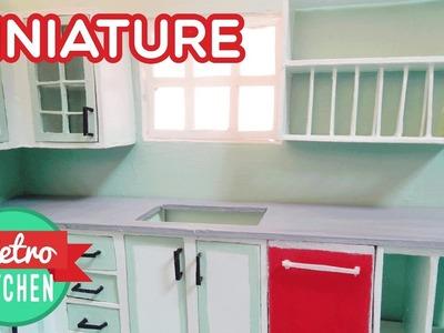 Dishwasher and Kitchen Shelves| Retro Miniature Kitchen Room Box 1:12
