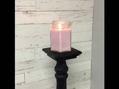 DIY Candle Holder under $20 from Lowe's