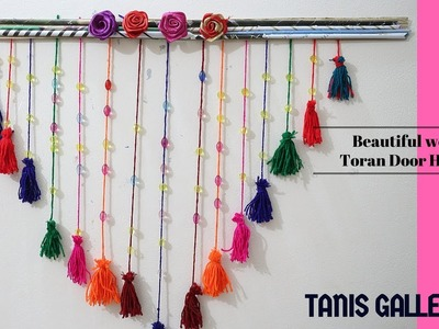 DIY cute & Beautiful woolen Toran Door Hanging | Handmade toran design | Home Decore Ideas