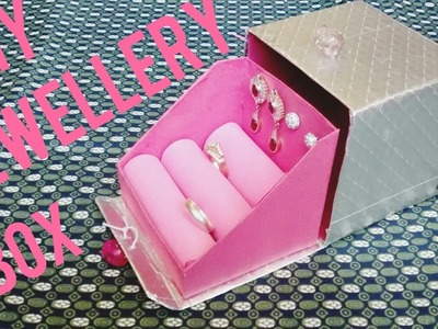 DIY earring holder box. jewellery box makeing with waste material. best out of waste