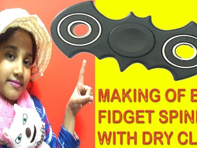 DIY Fidget Spinner How to Make Bat Fidget Spinner with Dry Clay Fidget Spinner Making