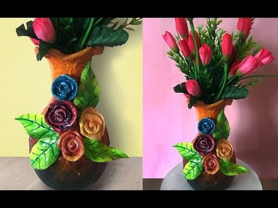 DIY Flower Vase Decoration Using Ceramic Powder | Ceramic Art Tutorial