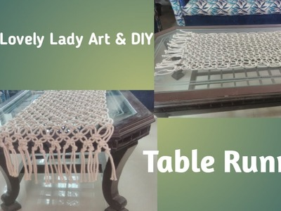DIY- How to make macrame Table runner. Table Cover- Super easy table runner tutorial